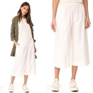 Madewell white cotton culottes